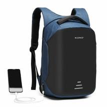 KONO REFLECTIVE USB CHARGING INTERFACE BACKPACK - NAVY - $63.72