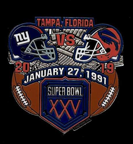 Primary image for Giants vs. Bills Super Bowl 25 Final Score Pin Willabee & Ward SB XXV