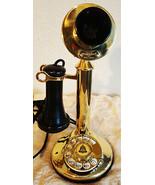 American Telegraph Brass Candlestick 323 / Rotary Dial Circa 1915's - $449.00