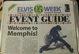 Elvis Week 2005 Event Guide Elvis Presley Magazine Newspaper  - $7.91