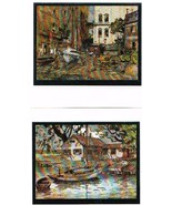 Set Of 2 Lionel Barrymore Foil-Etch Prints: Seaworthy and Point Pleasant - $4.99