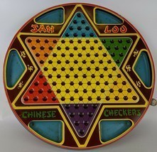 Vintage 1953 2-Sided Tin Lithographed Chinese Checkers by Northwestern P... - £21.75 GBP