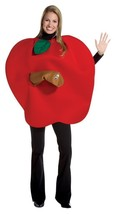 Apple Adult Costume Women Men Worm Tunic Red Food Fruit Halloween Unique... - £43.55 GBP
