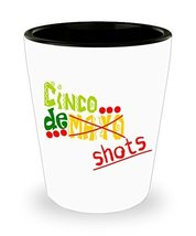 Cinco De Mayo Shots Shot Glass Man Cave Gift Celebration Fiesta - $11.99