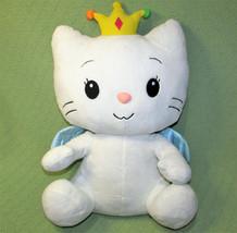 """21"""" Angel Cat Sugar Large Princess Cat Blue Satin Wings Dan Dee Stuffed Animal - $24.75"""