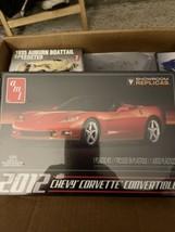 2012 Corvette Convertible Plastic Model Car Kit AMT733  BY AMT NEW & Sealed - $19.31