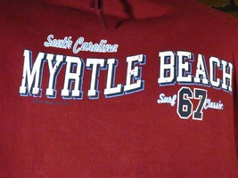 South Carolina MYRTLE BEACH Surf 67 Classic Hoodie Jacket Mens Size M - $26.94 CAD
