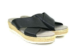 Earth Modena Marigold Women's Black Leather Sandals Espadrilles Size 9.5  - $34.64