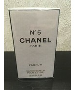 RARE CHANEL NO 5 PURE PARFUM 0.25oz/ 7.5ml VINTAGE NEW&SEALED - $58.41