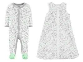 NWT Carters Dinosaur Baby Boys Footed Sleeper Pajamas Sleep Bag - $9.99