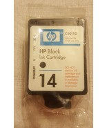 HP Black 14 Ink C5011D New Genuine InkJet Factory Sealed • no box included - $9.40
