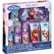 NEW NIP Disney Frozen 7 Piece Spa Gift Set Lotion Body Wash Shampoo Soap... - $6.99