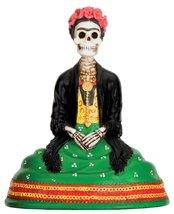 Ebros Mexican Dias De Los Muertos Sitting Lady Skeleton Day of The Dead Statue 4 - $19.75