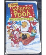 Winnie The Pooh - And Christmas Too - Walt Disney - Gently Used VHS -Cla... - $7.91
