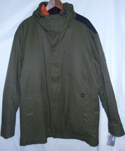 Timberland 3-in-1 Hood Olive Green Rust Parka Jacket Mens Size Xl Zip New Nwt - $136.40