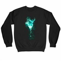 Harry Potter Stag Neon Children's Unisex Black Sweatshirt - $24.70
