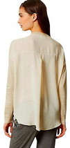 Anthropologie Smooth Back Top Large 10 12 Ivory Pullover Blouse Shirt UNIQUE L - $41.30