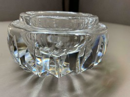 "Small Waterford Crystal Ashtray or Votive Holder 3.25"" Diameter 8 Pt Sta... - $29.69"