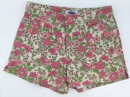 Old Navy Youth Girls 8 Shorts Pink Green White Flowers Floral Cotton - $14.70