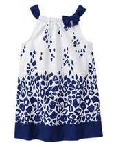 Gymboree Blue Safari Giraffe Print Dress Navy White Woven Cotton NWT Man... - $13.99