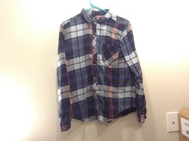 BDG Plaid Long Sleeve Multicolor Shirt Sz LG