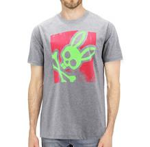Men's Psycho Bunny Heather Grey Short Sleeve Tee Logo Graphic Shirt T-Shirt image 2