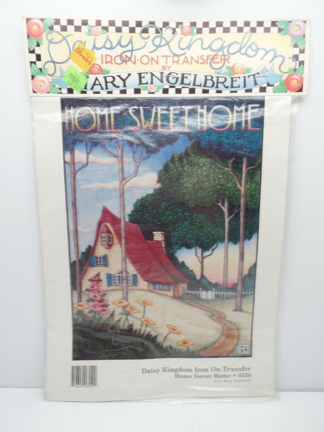 Iron On Transfer Home Sweet Home Mary Engelbreit 6550 Daisy Kingdom 1990