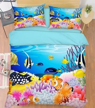 3D Cartoon Coral 16 Bed Pillowcases Quilt Duvet Single Queen King US Summer - $102.84+