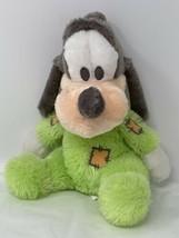 "Disney Parks Baby Goofy Plush Chime Sound Green Soft Stuffed Animal 9"" S... - $13.86"