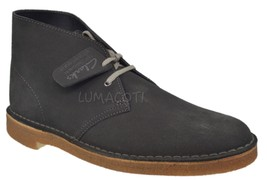 Mens Clarks Originals Desert Boot Dark Grey Suede [26129906] - $99.99