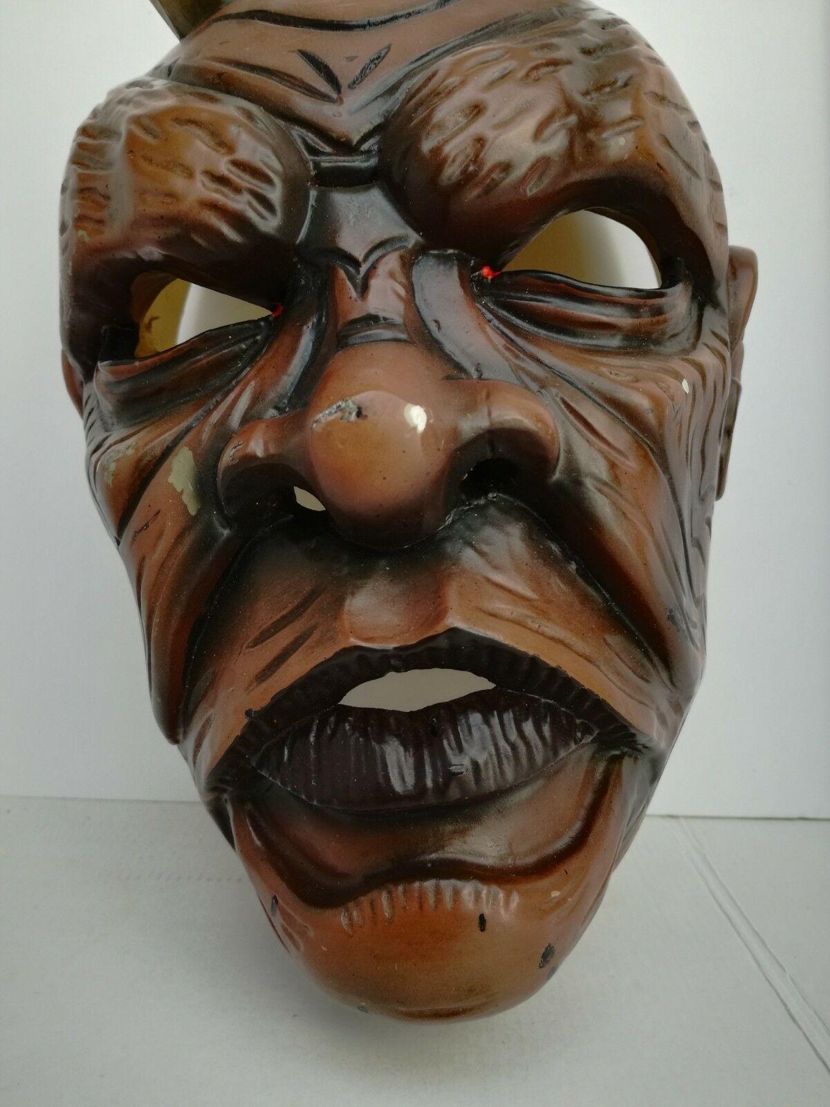 Antique Nikolaus Krampus wood handcarved BLACK FOREST Devil Mask Gothic oddities image 5