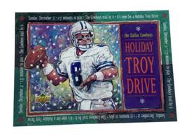 1997 Upper Deck Holiday Troy Drive Troy Aikman Dallas Cowboys - $14.95