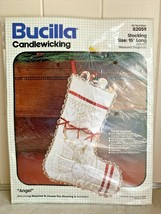 Bucilla Candlewicking Kit Angel Christmas Stocking 82059 Lace Ribbon NOS - $19.95