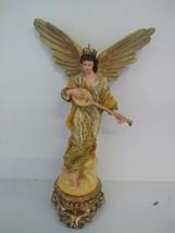 Department 56 Rejoice angel with mandolin in original box Christmas decoration - $21.78
