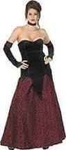 Crimson Vampira Adult Size Costume Medium Clothes Size 10-14 - $39.99