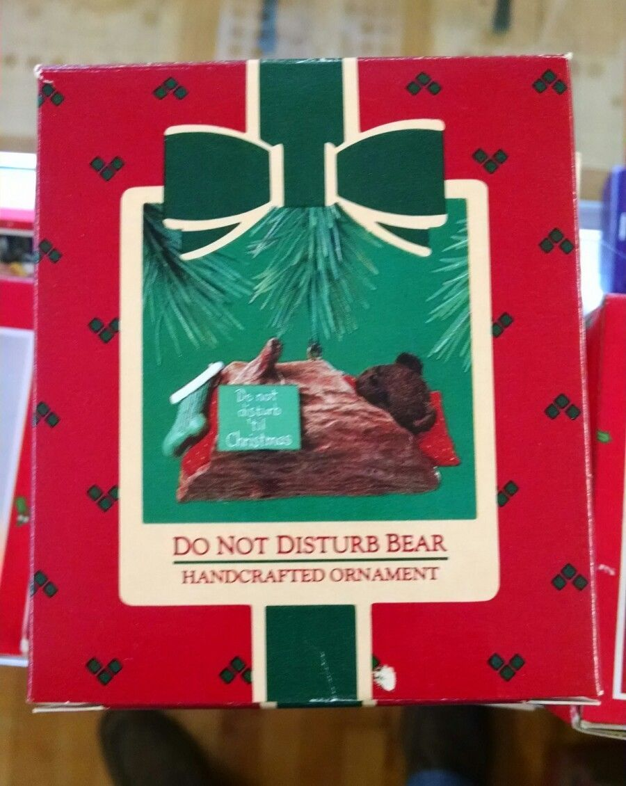 "Primary image for Hallmark Keepsake ""Do Not Disturb Bear"" Ornament 1985 e39"