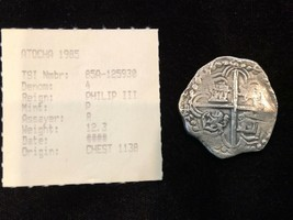 BOLIVIA 2 REALES SILVER ATOCHA 1622  DATED! SHIPWRECK FISHER PIRATE GOLD... - $2,250.00