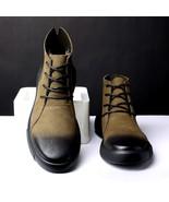 CXJYWMJL Men Martin Boots Warm Leather Vintage Classic Shoes Winter Warm... - $49.32