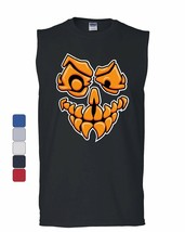 Scary Jack-o-Lantern Muscle Shirt Halloween Costume Trick-or-Treat Sleeveless - $11.76+