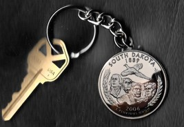 State of SOUTH DAKOTA Quarter Keychain Key Chain - $5.88