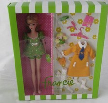 Barbie Francie Silkstone Doll With Accessories (Nighty Brights} New In Box !! - $149.00
