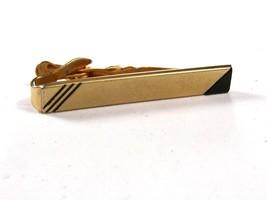 1960's Silver Tone & Black Tie Clasp by SWANK.111715 - $16.99