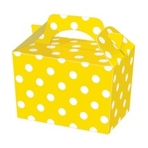 10 yellow polka dot  Childrens,Adult  Birthday Food Favour Loot Party Ca... - $6.32