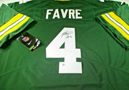 BRETT FAVRE / HALL OF FAME / AUTOGRAPHED GREEN BAY PACKERS PRO STYLE JERSEY COA