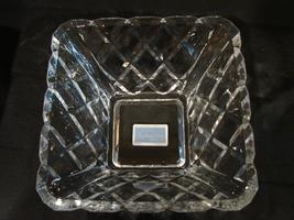 Mikasa Crystal 10 Inch Diamond Sparkle Square Bowl NIB image 6