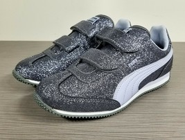 PUMA Whirlwind Glitz Sneaker, Grey, Childrens Size 3 / 34.5 (ages 5-8) - $20.24
