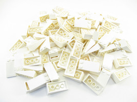 LEGO White Slope 18 4x2 Lot of 50 Parts Pieces 30363 - $11.87