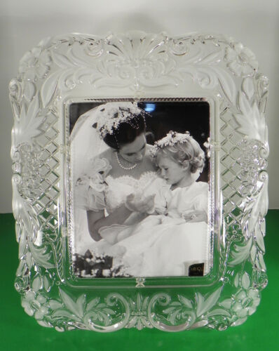 Primary image for Mikasa TIMELESS LOVE Crystal Picture Photo Frame Wedding SA 895/830