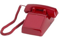 No Dialpad Desktop Red Phone with Ringer by HQt... - $79.99
