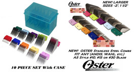 OSTER STAINLESS STEEL ATTACHMENT GUIDE Blade 10 COMB SET Fit A5,Andis AG... - $103.94
